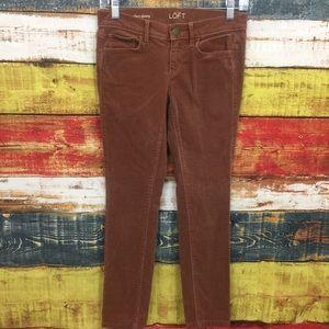 Ann Taylor LOFT Modern Skinny Rose Corduroy Pants